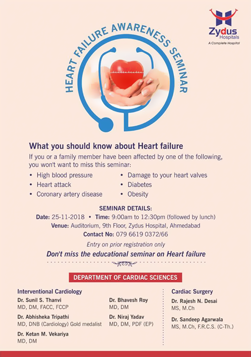 What you should know about Heart failure!  #HeartCare #CardiacCare #ZydusHospitals #Ahmedabad #Gujarat #GoodHealth