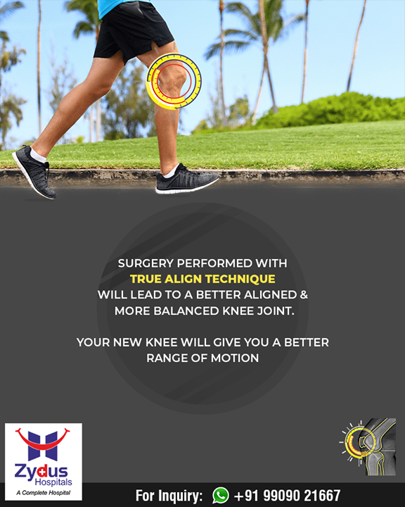 Your new knee will give you a new range of motion!   #TrueAlignTechnique #WalkLikeBefore #KneeReplacements #ZydusHospitals #Ahmedabad #Gujarat