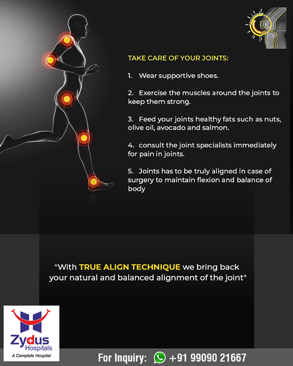 We bring back your natural and balanced alignment of the joint with TRUE ALIGN TECHNIQUE!  #ZydusHospitals #StayHealthy #Ahmedabad #GoodHealth