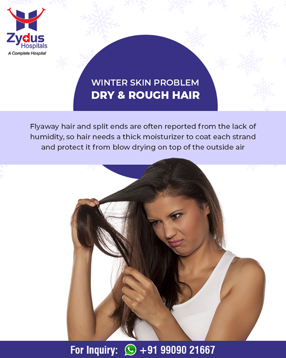 Simple & easy hair care tips for #winter!  #ZydusHospitals #StayHealthy #Ahmedabad #GoodHealth #WinterHealth #SkinProblems