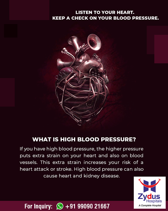 It is advisable to keep a regular check on your blood pressure levels.  #ZydusHospitals #StayHealthy #Ahmedabad #GoodHealth