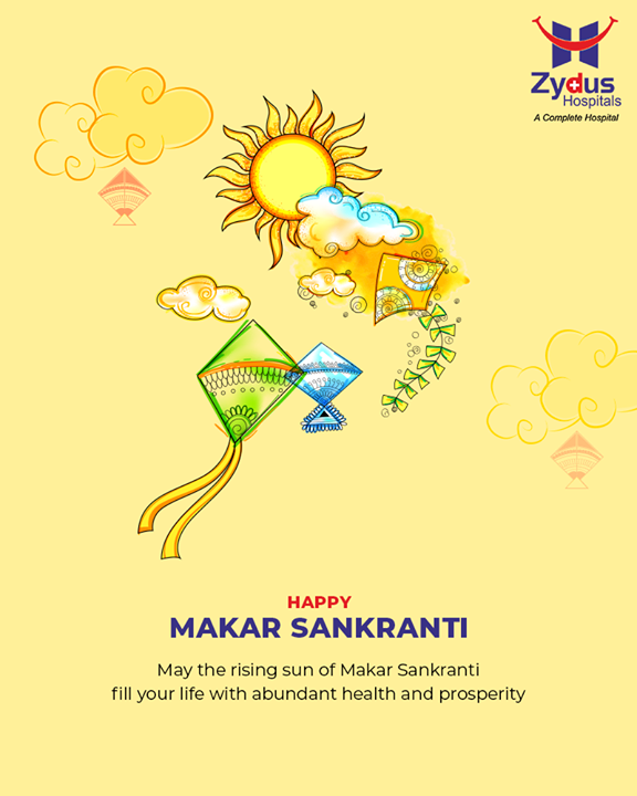 May the rising sun of Makar Sankranti fill your life with abundant health & prosperity!  #HappyUttarayan #Uttarayan2019 #MakarSankranti #IndianFestivals #FestivalsOfIndia #KiteFestival #KiteFlying #ZydusHospitals #StayHealthy #Ahmedabad #GoodHealth