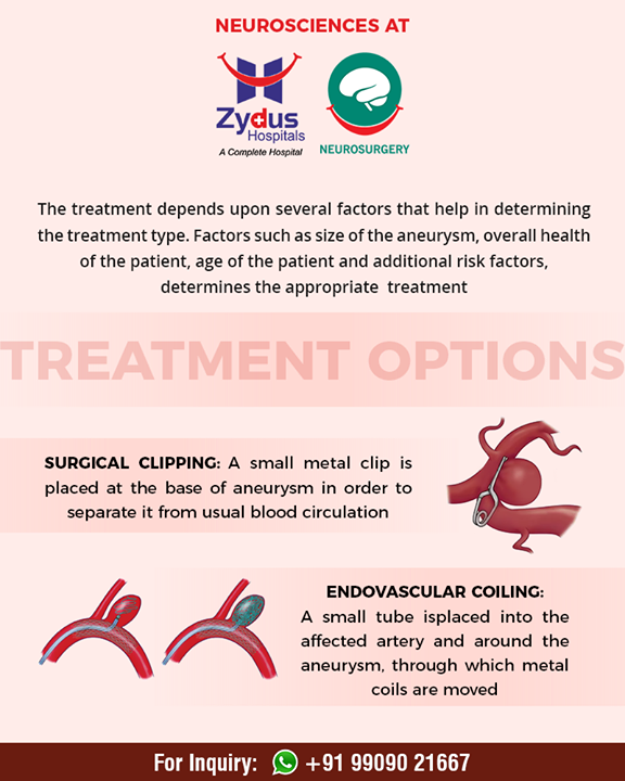 Understanding treatment options for brain aneurysm!  #NeuroSurgery #ZydusHospital #Ahmedabad #GoodHealth
