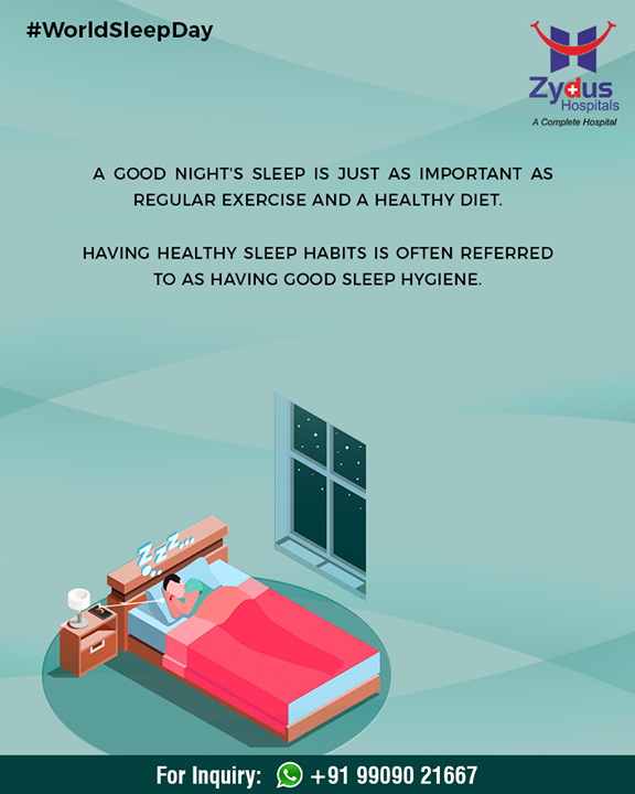 #WorldSleepDay is celebrated to spread awareness about the importance of healthy sleep.  #ZydusHospitals #Ahmedabad #GoodHealth #WeCare