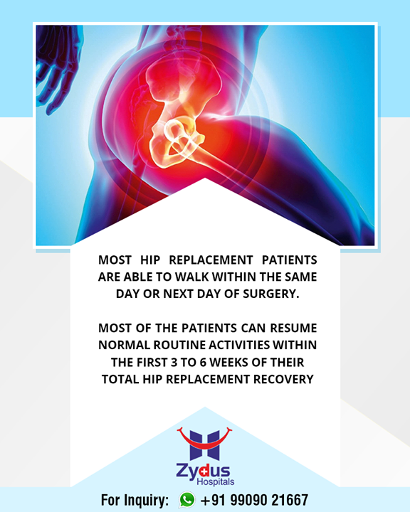 Did you know this fact about total hip replacement?  #ZydusHospitals #Ahmedabad #GoodHealth #WeCare #HipReplacement #TotalHipReplacement