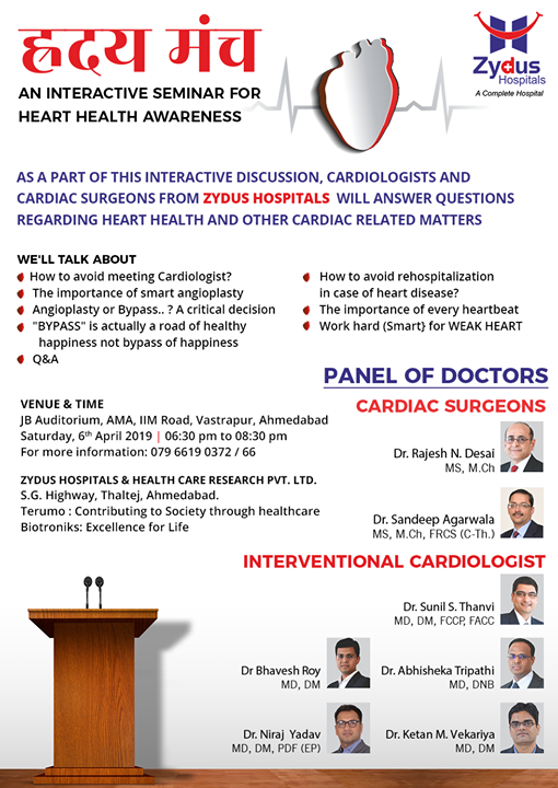 An interactive seminar for heart health awareness!   #ZydusHospitals #Ahmedabad #GoodHealth #WeCare