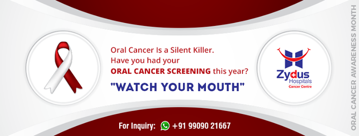 #OralCancer is a silent killer!   #ZydusHospitals #Ahmedabad #GoodHealth #WeCare