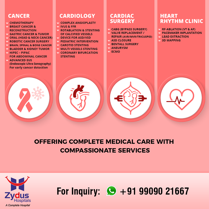 Zydus Hospitals aims at offering complete medical care with compassionate services!  #ZydusHospitals #Ahmedabad #GoodHealth #WeCare