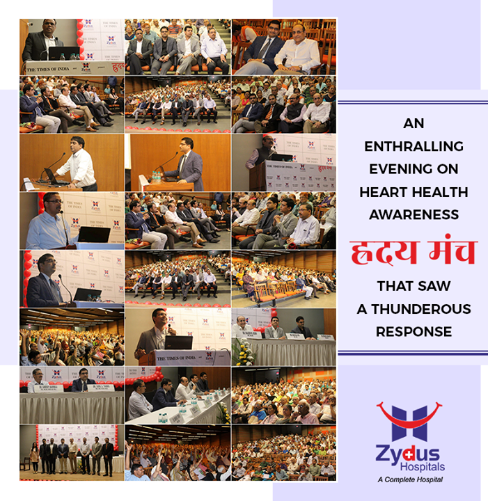 Thanking everyone for such enthralling response towards #हृदयमंच!   #ZydusHospitals #Ahmedabad #GoodHealth #WeCare