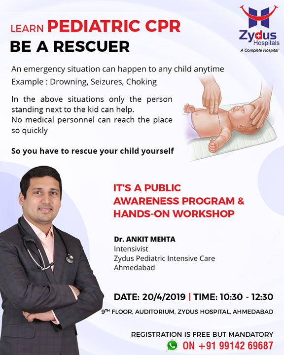 Learn Pediatric CPR and be a rescuer!  #ZydusHospitals #Ahmedabad #GoodHealth #WeCare