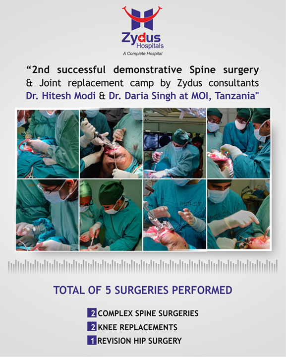 Spine Surgery by Dr. Hitesh Modi and Joint Replacement by Dr. Daria Singh at MOI, #Tanzania! #ZydusHospitals #Ahmedabad #SpineSurgery #TrueAlign #JointReplacement