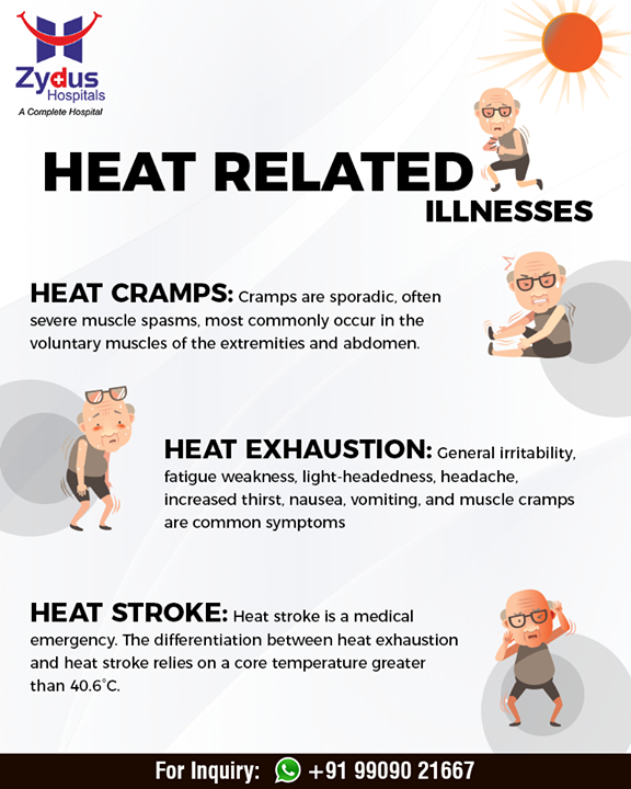 Stay safe during the heat stroke!   #ZydusHospitals #Ahmedabad #GoodHealth #WeCare #HeatStroke #Summer #AhmedabadSummer #SummerCare