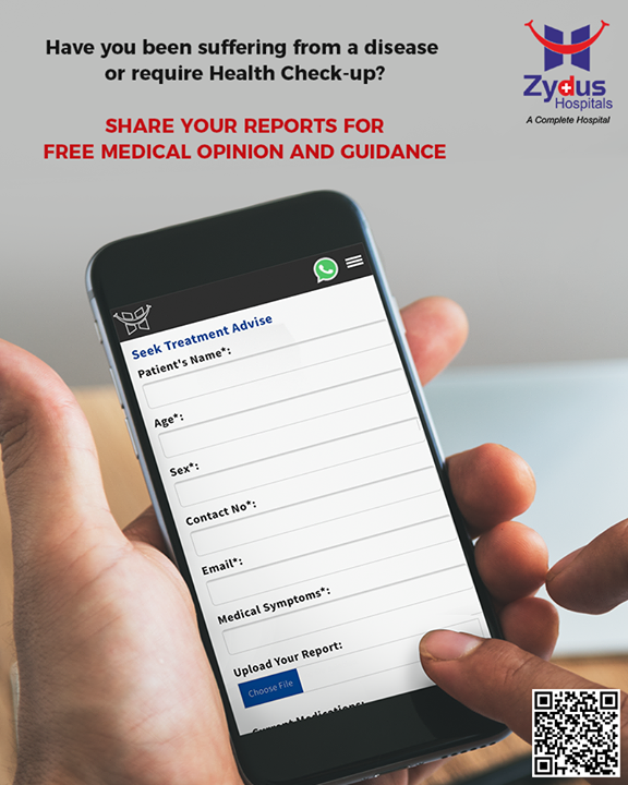 Share your reports with us to get FREE medical opinions & guidance!   #ZydusHospitals #StayHealthy #Ahmedabad #GoodHealth #WeCare #HealthCheckUp #CheckUps