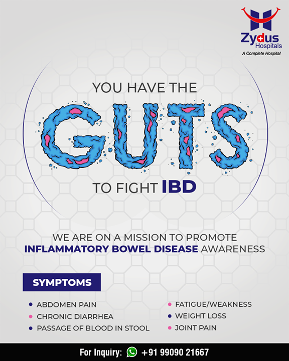 You have the GUTS to fight IBD!   #InflammatoryBowelDisease #IBD #ZydusHospitals #StayHealthy #Ahmedabad #GoodHealth #IBDAwareness #IBDSuperHeroes