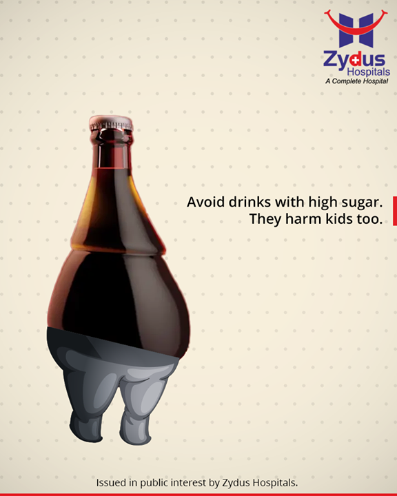 Avoid drinks with high sugar. They harm kids too.  #reducesugaraddlife #avoidcarbonateddrinks #ZydusHospitals #StayHealthy #Ahmedabad #GoodHealth #energeydrinksharm #saveourkidsfromsoda