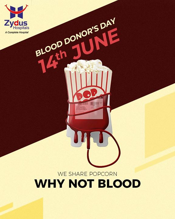 Pledge to donate #blood today. Let the reason be #life.  #WorldBloodDonorDay #BloodDonorDay #DonateBlood #SaveLife #ZydusHospitals #StayHealthy #Ahmedabad #GoodHealth
