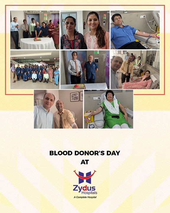 Blood Donor's Day at Zydus Hospitals!  #WorldBloodDonorsDay #BloodDonorDay #DonateBlood #SaveLife #ZydusHospitals #StayHealthy #Ahmedabad #GoodHealth