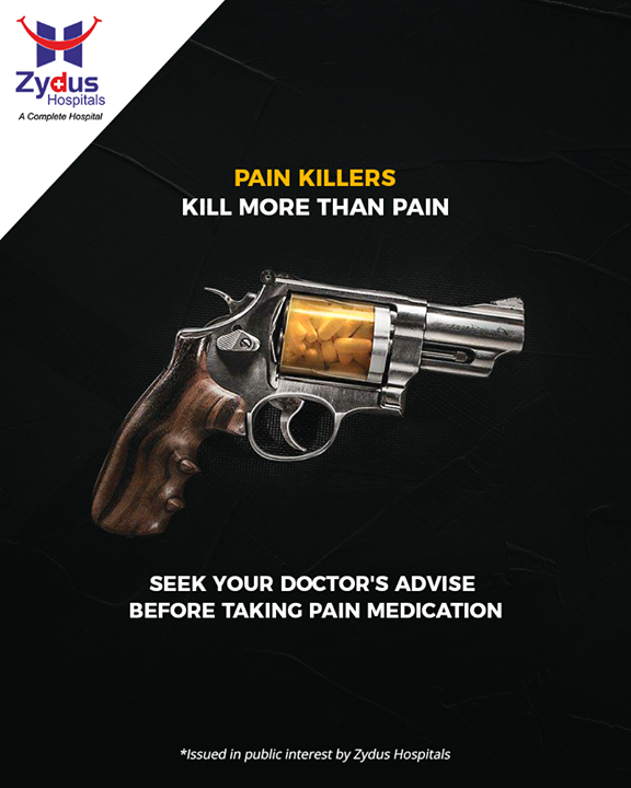 Are you surviving on pain killers? They kill more than pain & harm your body! Seeking your doctor's advise can save you from kidney complications as well as pain killer addiction.   #ZydusHospitals #StayHealthy #Ahmedabad #NoSelfTreatment #GuidedMedication #GoodHealth #ZydusCares #PainKillers #DidYouKnow