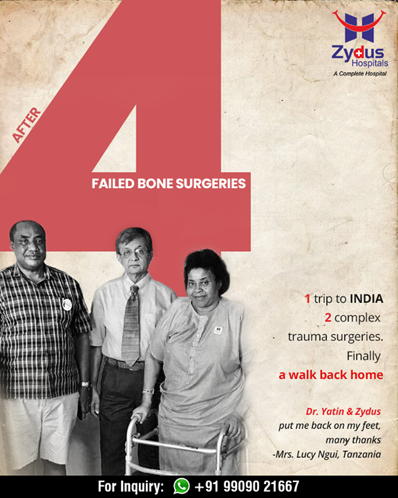It's a sheer joy to see our patients walking out smiling on their feet from our #hospital! Zydus trauma team led by Dr. Yatin Desai making a difference to the lives of many with #compassion coupled with unmatched #professionalism  #RealPeopleRealStories #ZydusHospitals #StayHealthy #Ahmedabad #GoodHealth #ZydusCares #Traumacenter #Emergencycare