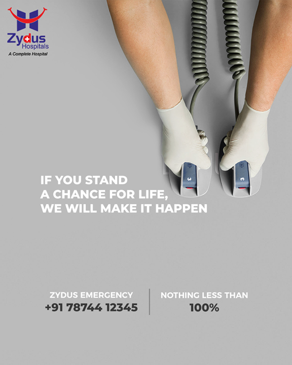 It's a matter beyond care, if you stand a chance for life, we will surely make it happen!   #ZydusHospitals #StayHealthy #Ahmedabad #GoodHealth #ZydusCares #Traumacenter #Emergencycare
