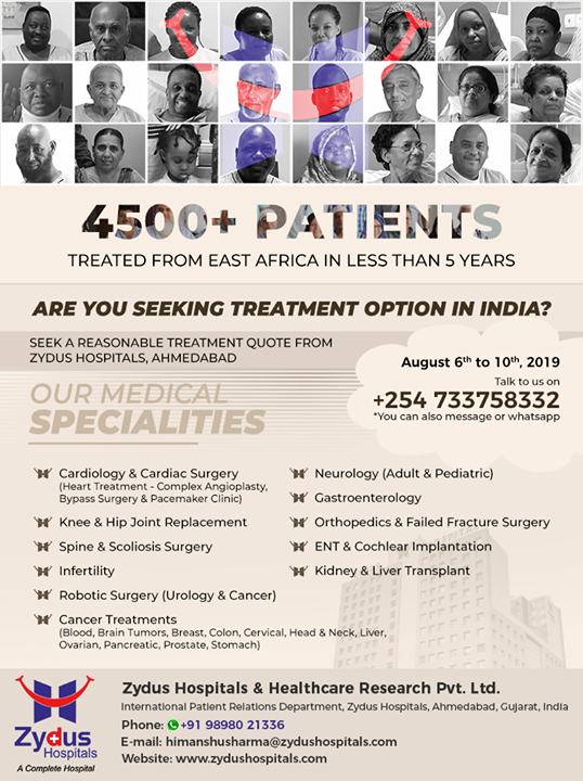 Seeking an opinion for treatment in India, you can fix a personal appointment.  #FreeSecondOpinion #TreatmentInIndia #StayHealthy #ZydusCare #ZydusHospitals #Ahmedabad #Gujarat