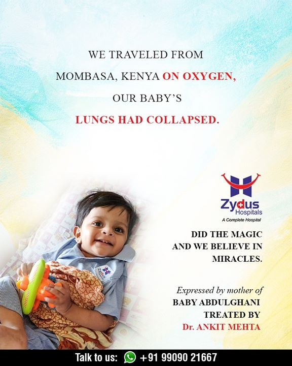 It feels magical to experience & make such miracles happen, we at Zydus Hospitals couldn't be more happy about being a part of this little toddler's survival journey!  #RealPeopleRealStories #ZydusHospitals #StayHealthy #Ahmedabad #GoodHealth #ZydusCares