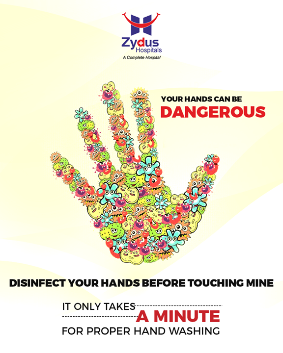 Proper handwashing is a way towards good health! It only takes a minute to wash your hands properly!  #StayHealthy #ZydusCare #ZydusHospitals #Ahmedabad #Gujarat