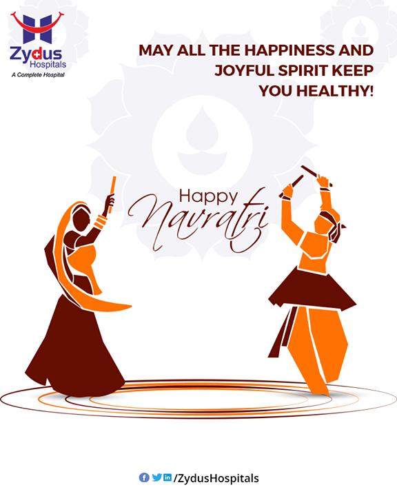 May all the happiness and joyful spirit keep you healthy!  #Navratri #Navratri2019 #HappyNavratri #Dandiya #Garba #NavratriFever #IndianFestivals #ShubhNavratri #Festival #Celebration #ZydusCare #ZydusHospitals #Ahmedabad #Gujarat
