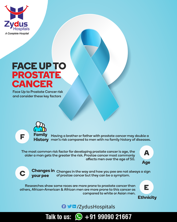 Awareness is the key to face up prostrate cancer! Become aware and be watchful at the cautionary early symptoms.  #ProstrateCancer #ZydusCare #ZydusHospitals #Ahmedabad #Gujarat