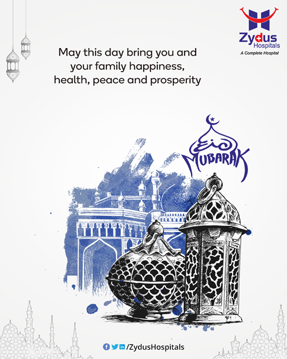 May this day bring you and your family happiness, health, peace and prosperity.   #EideMilad #EidMubarak #GoodHealth #StayHealthy #ZydusCare #ZydusHospitals #Ahmedabad #Gujarat