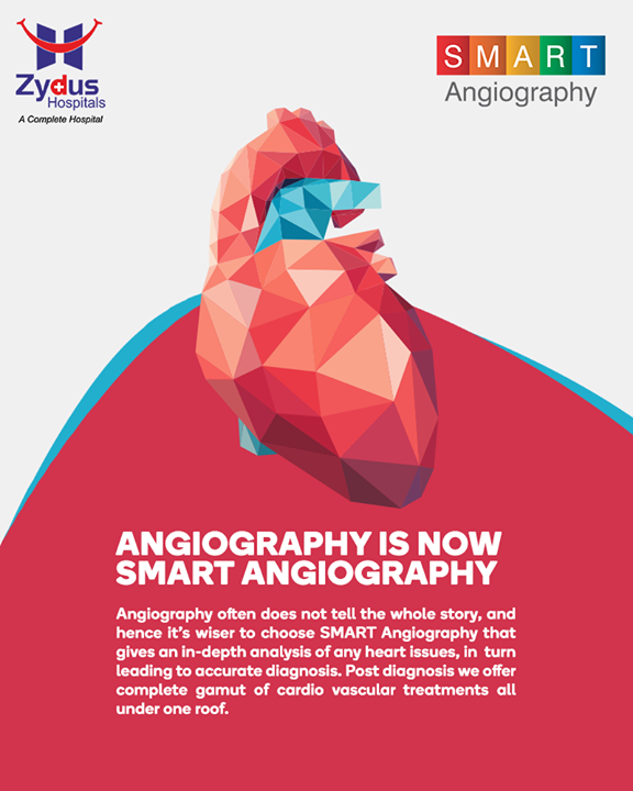 Introducing #SMART Angiography - #personalized and #patient-centric cardio vascular treatments - all under a single roof !  #Angiography #HeartCare #SMARTAngiography #HeartDisease #GoodHeartCare #StayHealthy #ZydusCare #ZydusHospitals #Ahmedabad #Gujarat