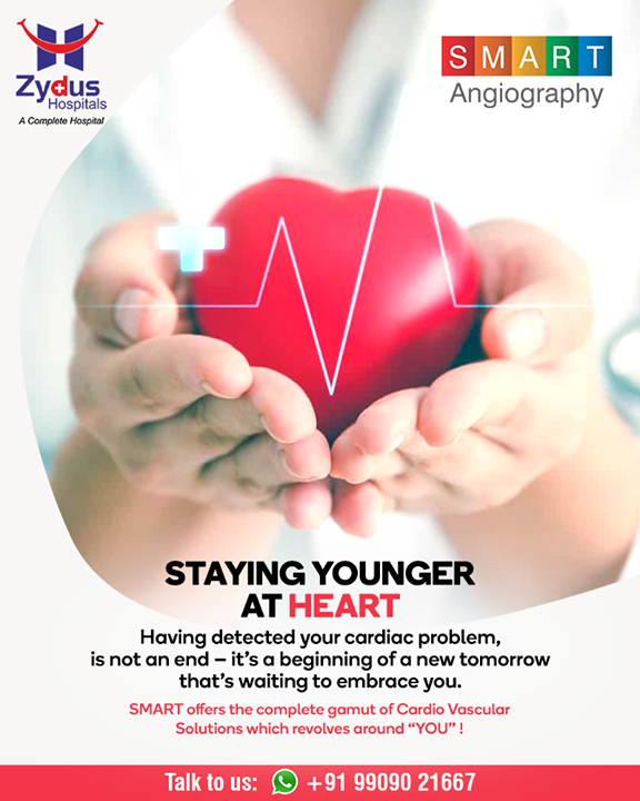 Stay younger and SMART at Heart with our #personalized and #patient-centric cardio vascular treatments  #Angiography #HeartCare #SMARTAngiography #HeartDisease #GoodHeartCare #StayHealthy #ZydusCare #ZydusHospitals #Ahmedabad #Gujarat