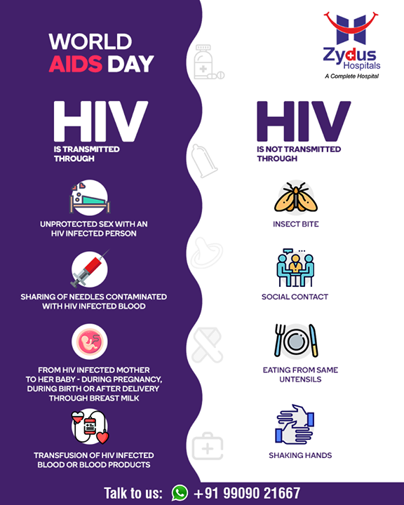 AIDS needs precautions & prevention, be aware and stay protected  #WorldAIDSDay #AIDSDay #AIDSDay2019 #WorldAIDSDay2019 #ZydusCare #ZydusHospitals #Ahmedabad #Gujarat