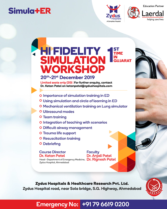 Learn Hi-Fidelity Simulation techniques and ideal teaching tool for upcoming emergency medicine and trauma at Hi Fidelity Simulation Workshop  #HiFidelitySimulationWorkshop #SimulationWorkshop #SimulationTechniques #Emergency #ZydusCare #ZydusHospitals #StayHealthy  #Ahmedabad #Gujarat