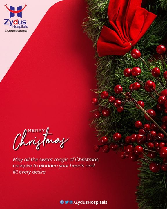 May all the sweet magic of Christmas conspire to gladden your hearts and fill every desire.  #Christmas #MerryChristmas #Christmas2019 #Festival #Cheers #Joy #Happiness #ZydusHospitals #HealthCare #ZydusCare #Ahmedabad