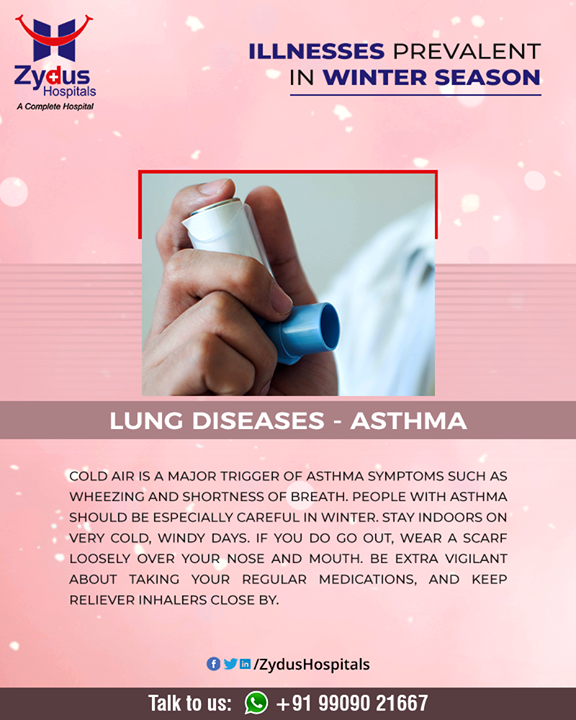 Coughing, wheezing, shortness of breath, and chest tightness are classic asthma symptoms.   #AsthmaSymptoms #Asthma #Winter #ZydusHospitals #HealthCare #ZydusCare #Ahmedabad