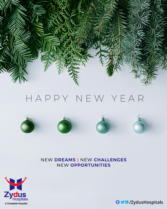 New year comes with new opportunities and challenges for every one of us.  #NewYear2020 #HappyNewYear #NewYear #Happiness #Joy #2k20 #Celebration  #ZydusHospitals #HealthCare #ZydusCare #Ahmedabad