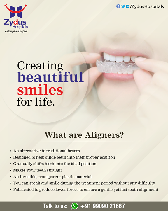 Make every day brighter with a smile. We provide outstanding smiles and beautiful aesthetic straighten teeth with aligners at Zydus Hospitals  #dental #dentist #dentistry #smile #teeth  #tooth #dentalcare #dentalclinic #teethstraighten #ZydusHospitals #HealthCare #ZydusCare #Ahmedabad