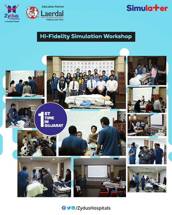 For the first time in Gujarat, we've come up with the Hi-Fidelity Simulation Workshop wherein we've received tremendous response. We thank all of you for attending this workshop!  #ZydusHospitals #HealthCare #ZydusCare #Ahmedabad