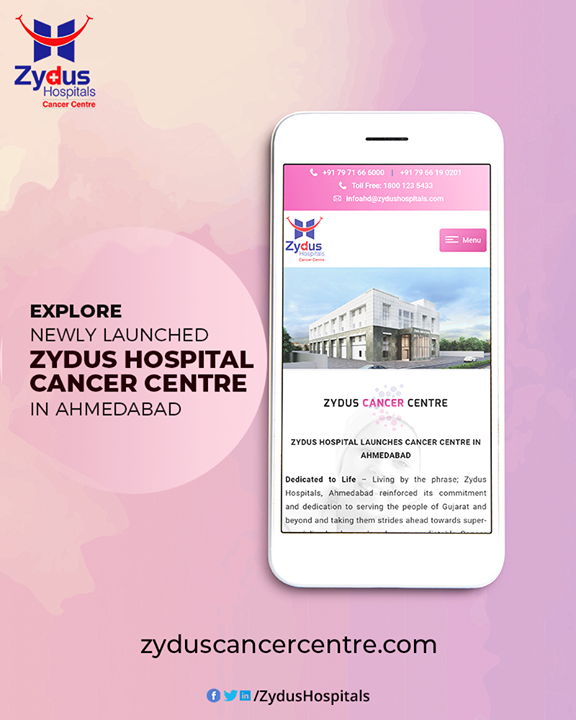 Zydus Hospitals, Ahmedabad reinforced its commitment and dedication to serving the people of Gujarat and beyond and taking them strides ahead towards super-specialised, advanced and more predictable Cancer Treatment. With launch of a new Cancer Treatment Centre in Ahmedabad the region not only gets access to highly sophisticated and accurate LINAC, PET Scanner, Gamma Camera, CT Scanner & MRI all under a single roof but what's the silver line on the crest is the team of dedicated and full-time cancer specialists.  Explore Now: http://zyduscancercentre.com/  #CancerCentre #ZydusCancerCentre #CancerCare #ZydusCare #ZydusHospitals #Ahmedabad #Gujarat