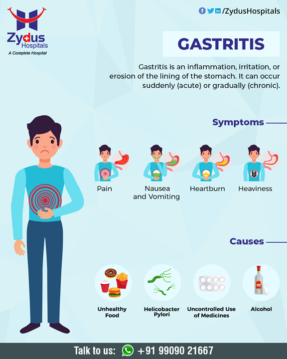 Symptoms of gastritis vary among individuals, and in many people, there are no symptoms. However, below are the most common symptoms  #gastritis #Symptomsofgastritis #Causesofgastritis #gastritiscare #ZydusHospitals #HealthCare #ZydusCare #Ahmedabad