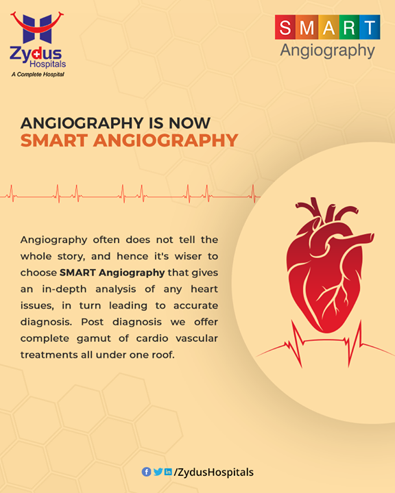 #SMART Angiography - personalized and patient-centric cardio vascular treatments - all under single roof !  #Angiography #HeartCare #SMARTAngiography #HeartDisease #GoodHeartCare #StayHealthy #ZydusCare #ZydusHospitals #Ahmedabad #Gujarat