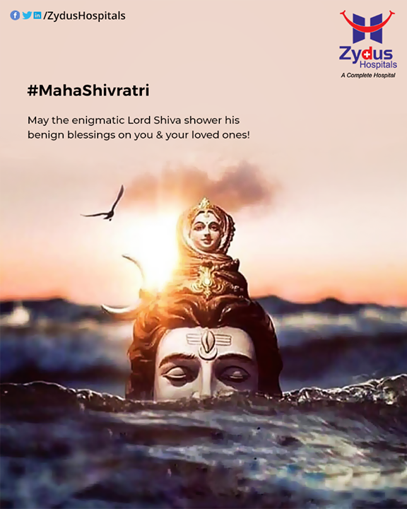 May the enigmatic Lord Shiva shower his benign blessings on you & your loved ones!  #Shivratri #Shivratri2020 #LordShiva #Shiva #MahaShivratri2020 #HarHarMahadev #महाशिवरात्रि #ZydusHospitals #Ahmedabad #Gujarat