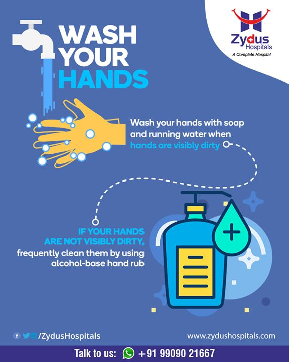 Washing your hands - a very important aspect of getting rid of #Corona  #StayHomeStaySafe #BeTheChange #covid19 #BreakTheChain #SocialDistancing #JantaCurfew #BeTheHero #CoronaVirusLockdown #ZydusHospitals #Ahmedabad