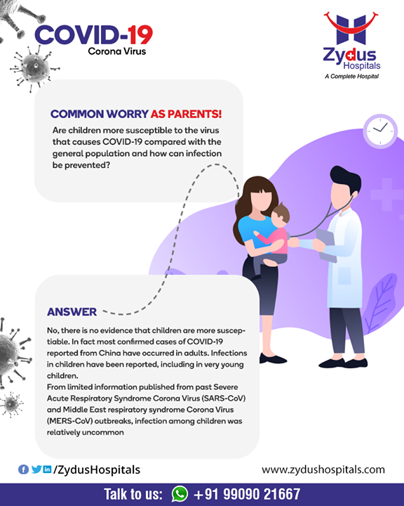 #Covid19 in children: Are they more susceptible?  #StayHome #FightCorona #IndiaFightsCorona #Coronavirus #ZydusCare #ZydusHospitals #Ahmedabad #Gujarat