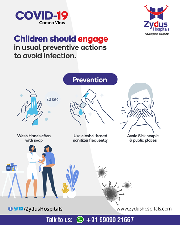 Help stop the spread of COVID-19 by following preventive measures. Teach your children to do the same.  #StayHome #FightCorona #IndiaFightsCorona #Coronavirus #ZydusCare #ZydusHospitals #Ahmedabad #Gujarat