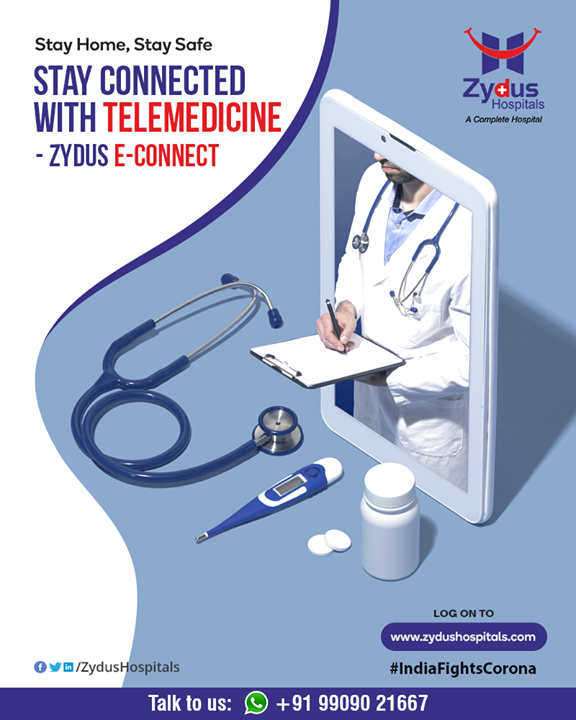 Need to visit your doctor? You can do that right from your home. Visit https://www.zydushospitals.com/ and talk to ZyE for an e-consultation with your doctor.  #IndiaFightsCorona #COVID19 #StayHome #StaySafe #TeleHealth #TeleMedicine #TeleConsultation #ZydusHospitals #Ahmedabad