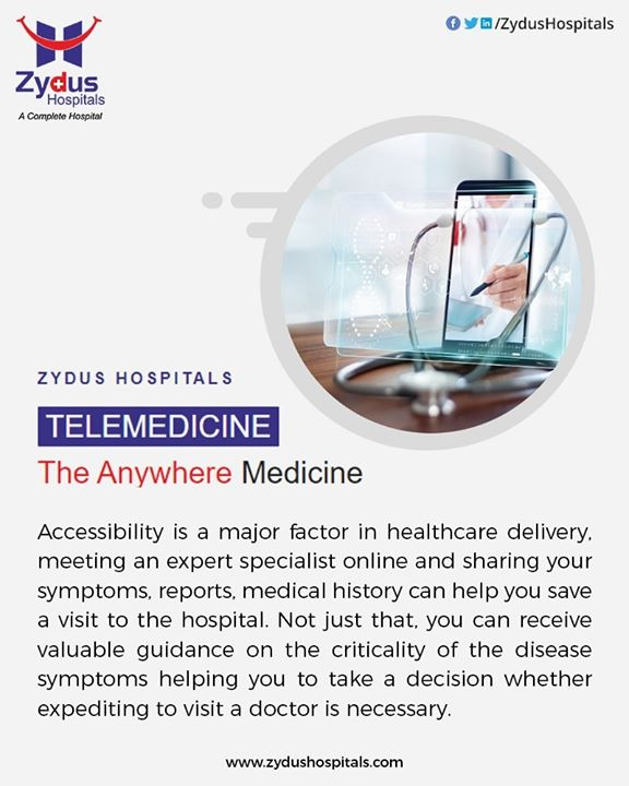Anywhere Medicine is the new normal. Prioritising your health-care needs is our priority, as we bring your #doctors closer to you explore the innovative & efficient - #Telemedicine solution. Reach your doctors from anywhere for your consultation.  #easy #simple #efficient #Ahmedabad #TeleHealth #EasyMedicine #SecondOpinion #HealthcareBeyondBorders #ZydusHospitals
