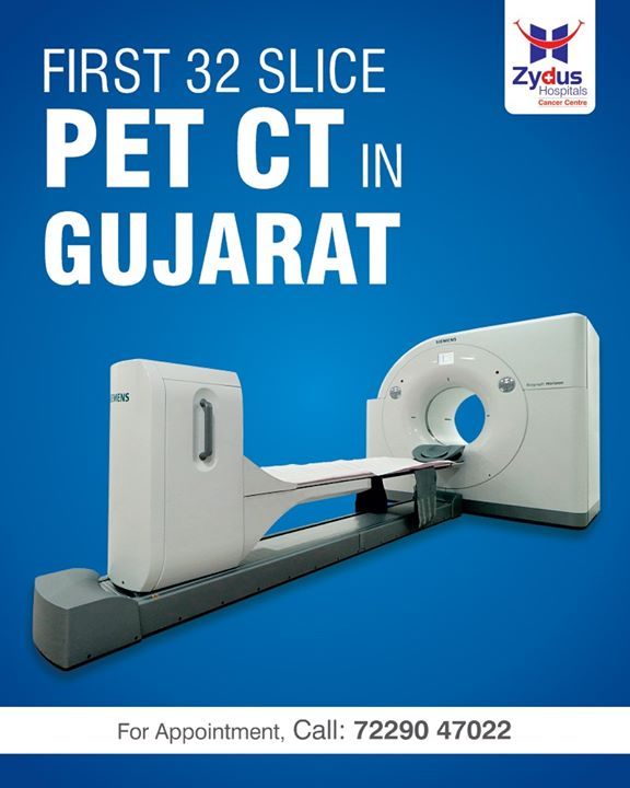 The first comprehensive 32 slice PET CT in Gujarat. The fusion of anatomic and functional information acquired simultaneously.  #ZydusHospitals #Ahmedabad #SmileofGoodHealth