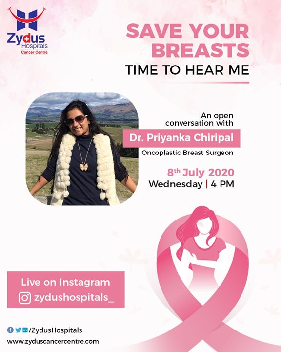 Save your Breasts - An open conservation with Dr. Priyanka Chiripal, Oncoplastic breast Surgeon. Bust the myths, time to step up care for your breasts and stay disease-free.  #SaveyourBreasts #BreastCare  #Instagramlive #InstaLive #ZydusHospitals #Ahmedabad #SmileofGoodHealth